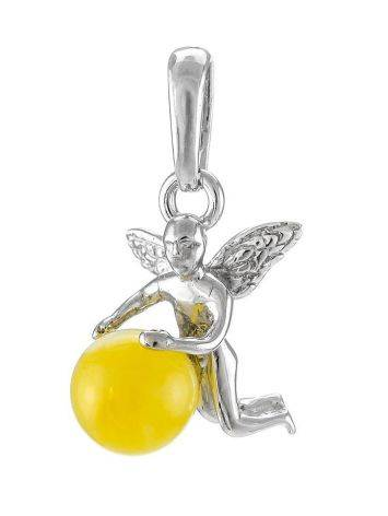 Honey Amber Pendant In Sterling Silver The Angel, image