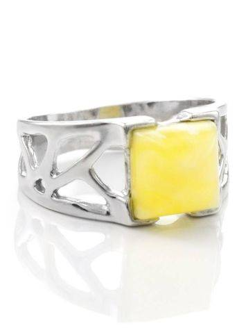 Honey Amber Ring In Sterling Silver The Artemis, Ring Size: / 22.5, image