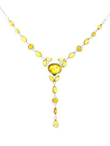 Lemon Amber Necklace In Sterling Silver The Josephine, image