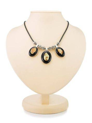 Multicolor Amber Necklace In Sterling Silver The Panther, image