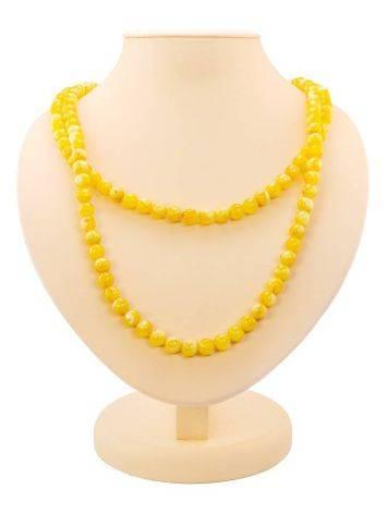 Honey Amber Ball Beaded Necklace The Ariadna, image