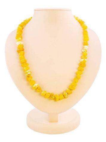 Honey Amber Beaded Necklace, image