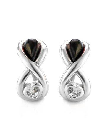 Cherry Amber Earrings In Sterling Silver The Amour, image