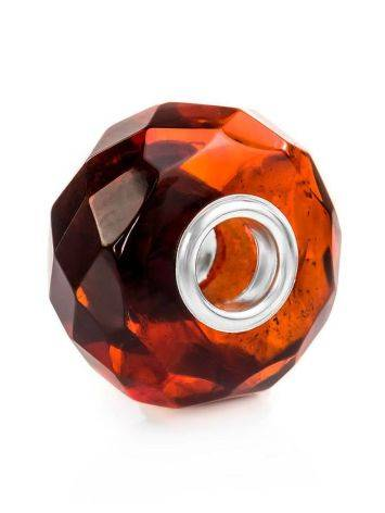 Faceted Amber Ball Charm, image