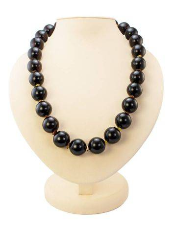 Cherry Amber Ball Beaded Necklace The Ariadna, image