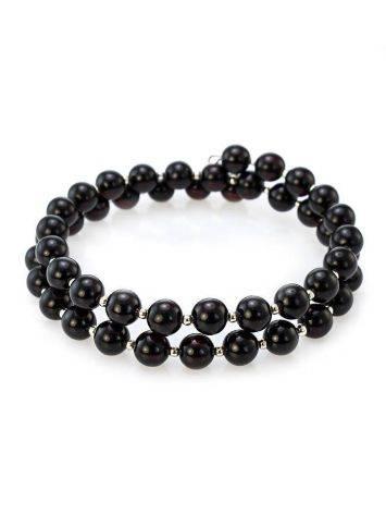 Dark Amber And Glass Beads Bracelet The Ariadna, image
