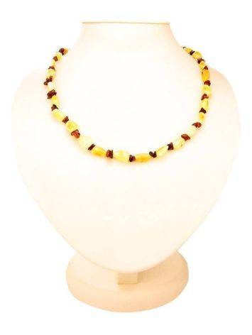 Two-Toned Amber Beaded Necklace, image