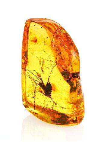Souvenir Amber Stone With Floral Inclusion, image