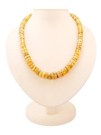Glossy Amber Beaded Necklace, image