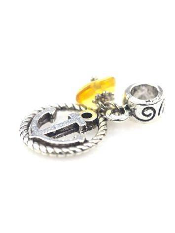 Metal Charm With Lemon Amber The Anchor, image