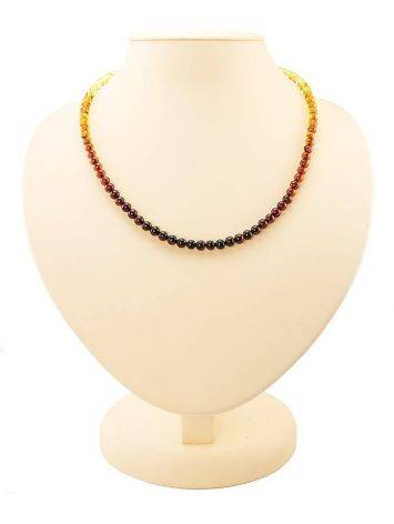 Two Toned Amber Beaded Necklace The Prague, image