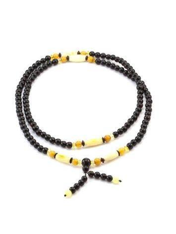 Multicolor Amber Buddhist Prayer Beads The Cuba, image