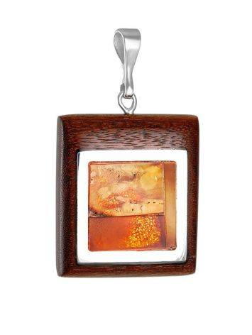 Amber Pendant With Natural Wood The Indonesia, image