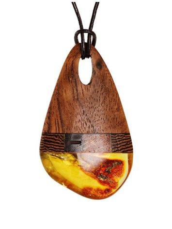 Amber And Wood Pendant The Indonesia, image