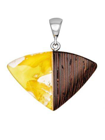 White Amber And Wood Pendant The Indonesia, image