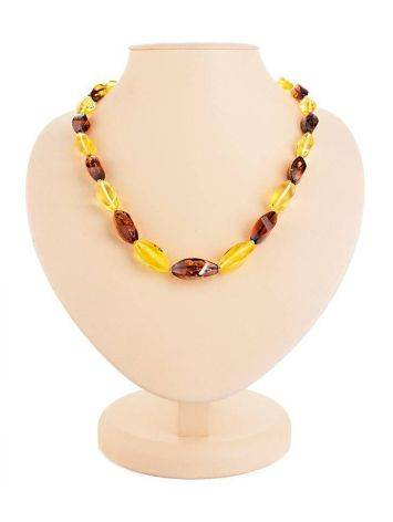 Multicolor Amber Beaded Necklace, image
