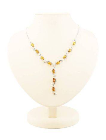 Amber Necklace In Sterling Silver The Verbena, image