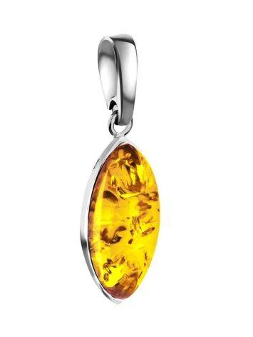 Delicate Lemon Amber Pendant In Sterling Silver The Amaranth, image
