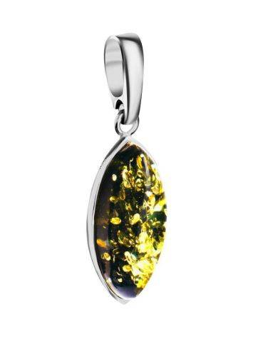 Oval Amber Pendant In Sterling Silver The Amaranth, image