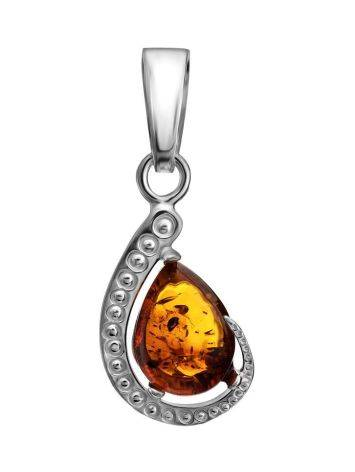 Cognac Amber Pendant In Sterling Silver The Acapulco, image