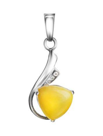 Honey Amber Pendant In Sterling Silver The Acapulco, image