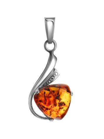 Ultra Feminine Amber Pendant In Sterling Silver The Acapulco, image