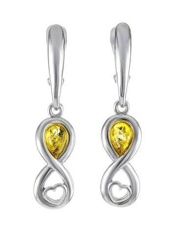 Lemon Amber Earrings In Sterling Silver The Amour, image