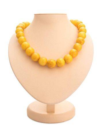 Aged Honey Amber Beaded Necklace, image