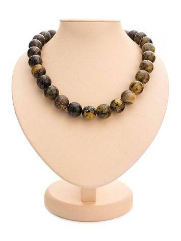 Boho Style Amber Ball Beaded Necklace The Meteor, image