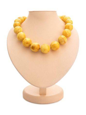 Vintage Style Amber Ball Beaded Necklace, image