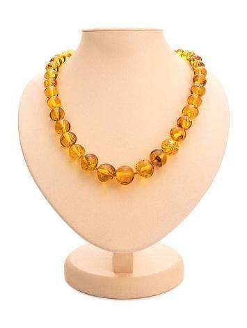 Lemon Amber Beaded Necklace, image
