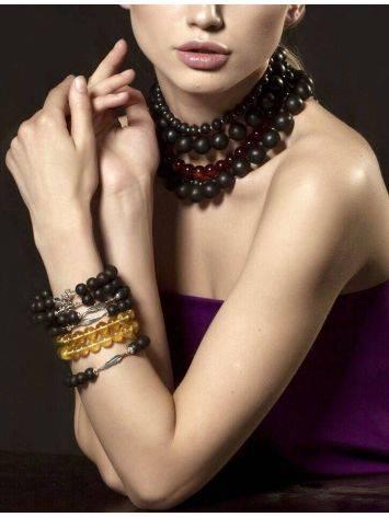 Black Amber Bracelet The Cuba, image , picture 2