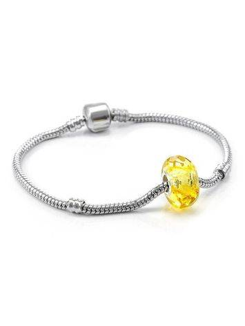 Faceted Lemon Amber Ball Charm, image , picture 4
