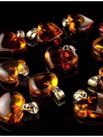 Cognac Amber Heart Pendant The Declaration, image , picture 4