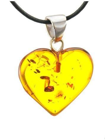 Cognac Amber Heart Pendant The Declaration, image , picture 3