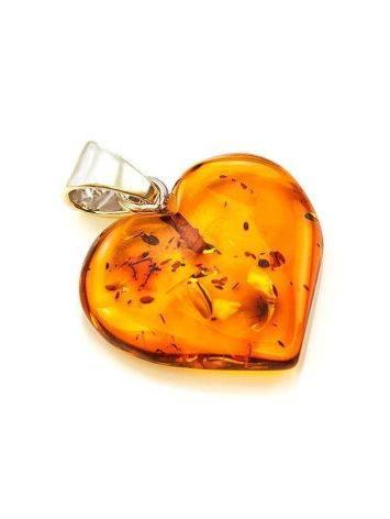 Cognac Amber Heart Pendant The Declaration, image , picture 5