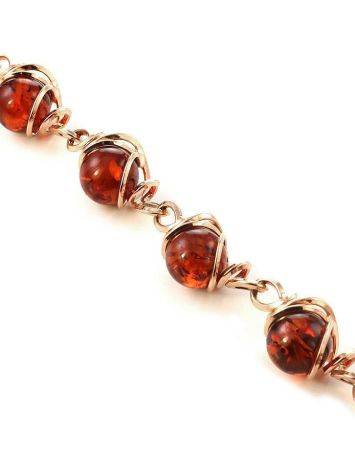 Link Amber Bracelet In Gold-Plated Silver The Flamenco, image , picture 3