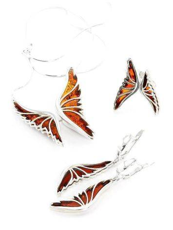 Amber Butterfly Necklace In Sterling Silver The April, image , picture 4