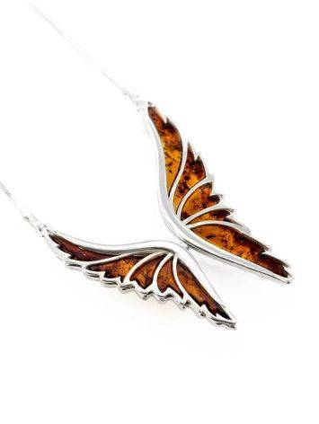Amber Butterfly Necklace In Sterling Silver The April, image , picture 3