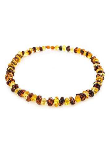 Two-Toned Amber Beaded Necklace, image , picture 3