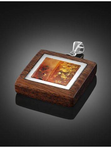 Ipe Brazilian Wood And Cognac Amber Pendant The Indonesia, image , picture 2