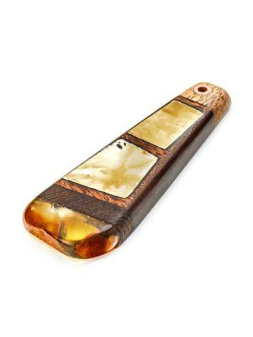Wooden Pendant With Honey Amber The Indonesia, image , picture 3