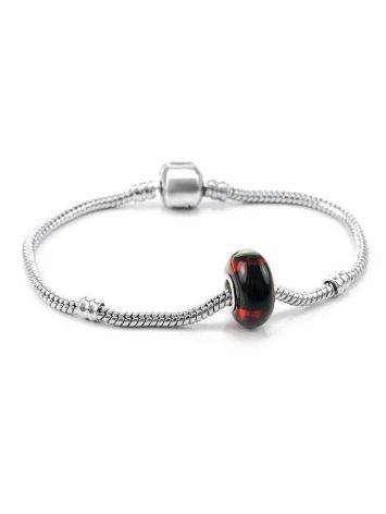 High Polished Cherry Amber Ball Charm, image , picture 4