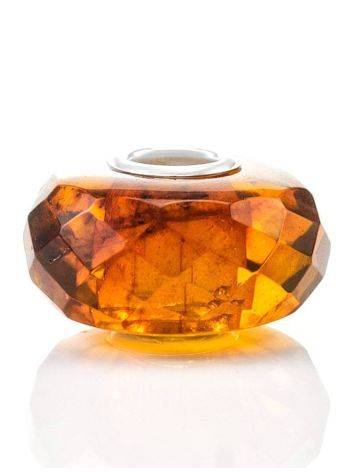 Faceted Amber Ball Charm, image , picture 2