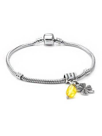 Four Leaf Charm With Lemon Amber The Shamrock, image , picture 5