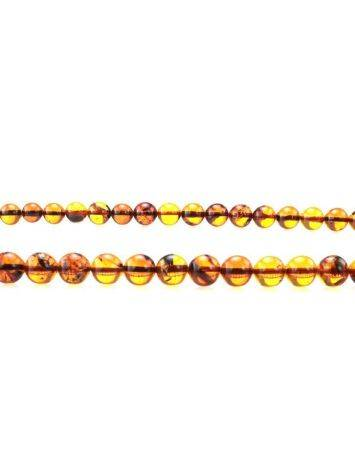 Cognac Amber Ball Beaded Necklace, image , picture 2