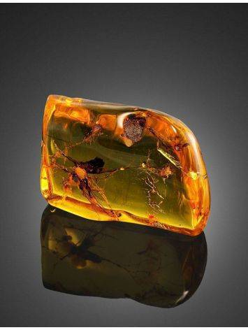 Souvenir Amber Stone With Floral Inclusion, image , picture 4