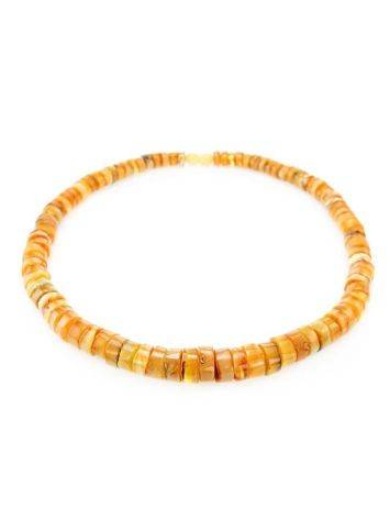 Glossy Amber Beaded Necklace, image , picture 4