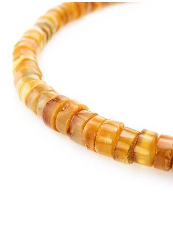 Glossy Amber Beaded Necklace, image , picture 2