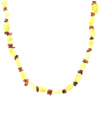 Two-Toned Amber Beaded Necklace, image , picture 4